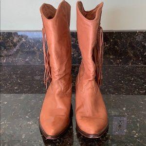 Vintage Zodiac Leather Cowboy Boots